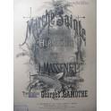 MASSENET Jules Marche Sainte Piano XIXe