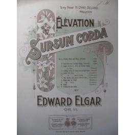 ELGAR Edward Sursum Corda Violon Piano 1901
