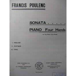 POULENC Francis Sonata Piano 4 mains