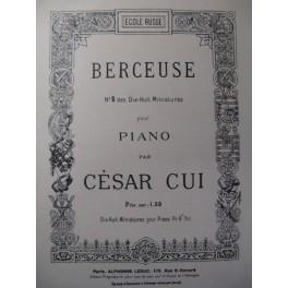 CUI César Berceuse n° 8 Piano
