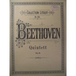 BEETHOVEN Quintett op.16 Piano Hautbois Clarinette Cor Basson