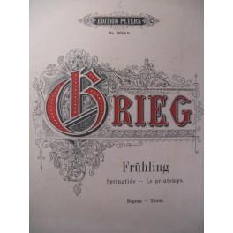 GRIEG Edvard Frühling Chant Piano