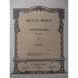WOLF Hugo Wiegenlied Violon Piano 1910