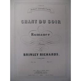 RICHARDS Brinley Chant du Soir Piano 1862