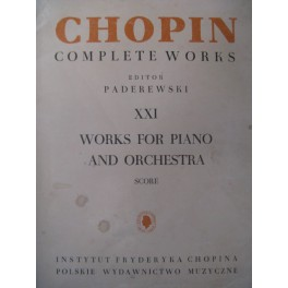 CHOPIN Frédéric Works for Piano & Orchestra