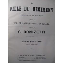 DONIZETTI Gaetano La Fille du régiment Opéra 1876