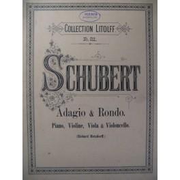 SCHUBERT Franz Adagio & Rondo Piano Violon Alto Violoncelle