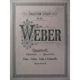 WEBER Quartett Piano Violon Alto Violoncelle