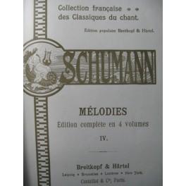SCHUMANN Robert Mélodies Vol 4 Chant Piano