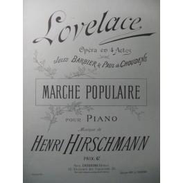 HIRSCHMANN Henri Marche Populaire Piano 1898