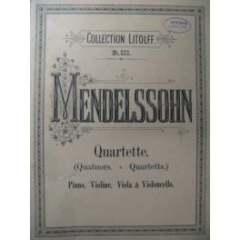 MENDELSSOHN Quartuors Piano Violon Alto Violoncelle