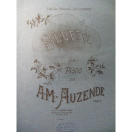 AUZENDE A. M. Bluette Piano 1888