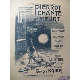 KRIER Georges Pierrot chante et meurt Chant Piano