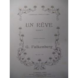 FALKENBERG G. Un Rêve Chant Piano ca1910
