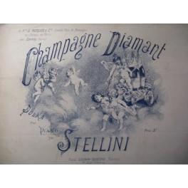 STELLINI A. Champagne Diamant Mercier Piano XIXe
