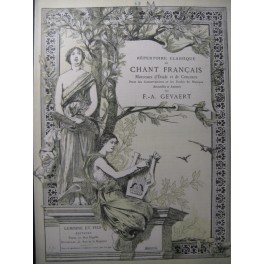 GRÉTRY Huron Monologue Chant Piano 1887