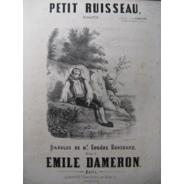 DAMERON Emile Petit Ruisseau Chant Piano XIXe
