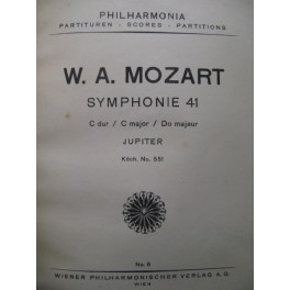 MOZART W. A. Symphonie n° 41 Orchestre