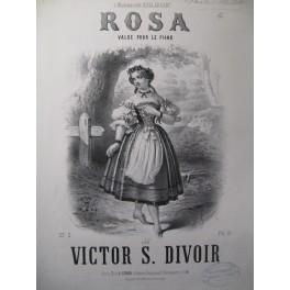 DIVOIR Victor S. Rosa Piano ca1863