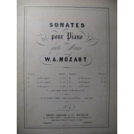 MOZART W. A. Sonate n° 4 Piano 4 mains