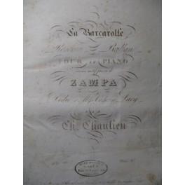 CHAULIEU Ch. La Barcarolle Piano 1831