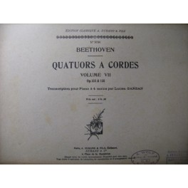 BEETHOVEN Quatuors à Cordes Vol 7 Piano 4 mains