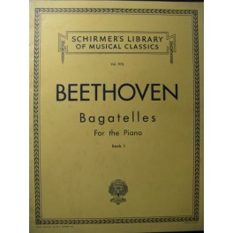 BEETHOVEN Bagatelles Vol 1 Piano