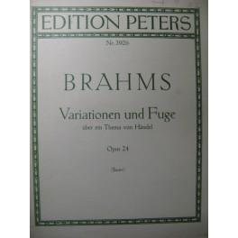 BRAHMS Johannes Variationen und Fuge Piano