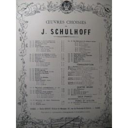 MOZART W. A. Menuet J. Schulhoff Piano XIXe