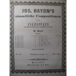 HAYDN Joseph Variationen in F moll Piano XIXe