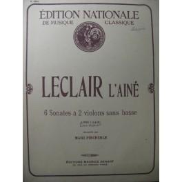 LECLAIR Jean-Marie Sonates à 2 violons 1
