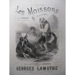 LAMOTHE Georges Les Moissons Chant Piano XIXe
