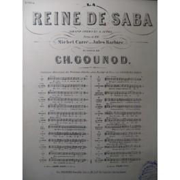 GOUNOD Charles La Reine de Saba n° 12bis Chant Piano ca1880