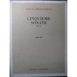 PROKOFIEV Serge Sonate n° 5 Piano