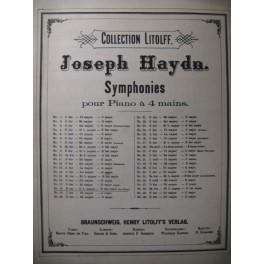 HAYDN Joseph Symphonie n° 18 Piano 4 mains