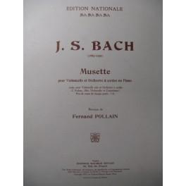 BACH J. S. Musette Violoncelle Piano 1922