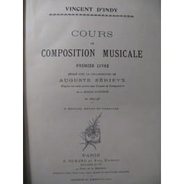 D'INDY Vincent Cours de Composition Musicale 1er Livre 1912