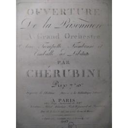 CHÉRUBINI Luigi La Prisonnière Ouverture Orchestre ca1800