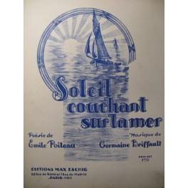 BRIFFAULT Germaine Soleil couchant sur la mer Chant Piano 1929