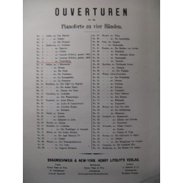 BEETHOVEN Promotheus Ouverture Piano 4 mains XIXe