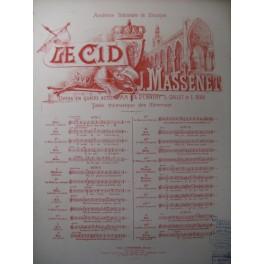 MASSENET Jules Le Cid n° 6 Chant Piano 1886