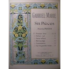 GABRIEL MARIE Pastel effacé Piano XIXe