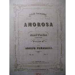 FUMAGALLI Adolfo Amorosa Piano XIXe