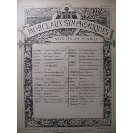 PIERNÉ Gabriel Sérénade Piano Violon 1901