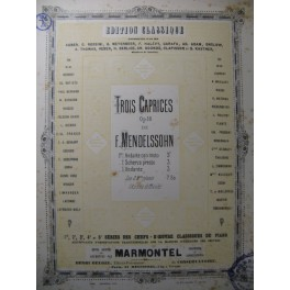 MENDELSSOHN Caprice op. 16 n° 3 Piano 1883