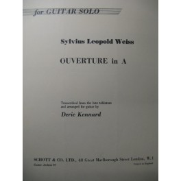 WEISS Sylvius Leopold Ouverture in A Guitare