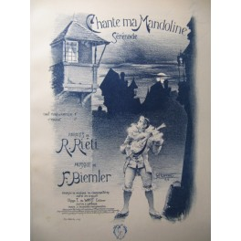 BIEMLER F. Chante ma Mandoline Chant Piano Mandoline XIXe