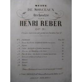 REBER Henri Rêverie Orchestre 1878