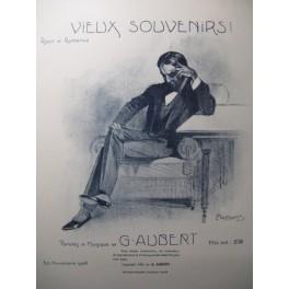 AUBERT Gaston Vieux Souvenirs Pousthomis Chant Piano 1909