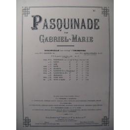 GABRIEL MARIE Pasquinade Piano 1895